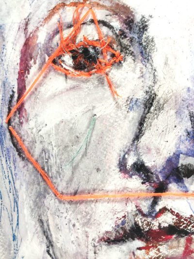 Ida on the fence: Lucky Numbers (fine art print, detail)