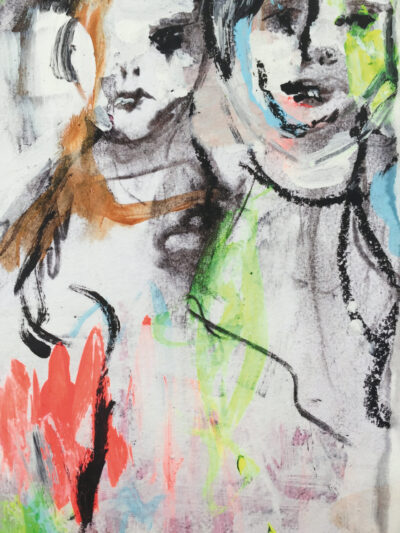 Ida on the fence: Visitors of 2020 (fine art print, detail)