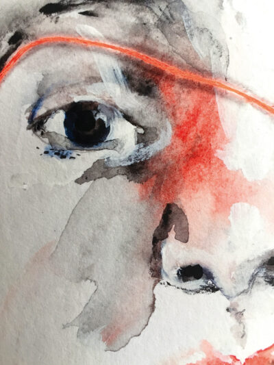 Ida on the fence: When I Hear Your Eyes Move (fine art print, detail)